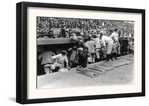 New York Yankees Dugout, Baseball Photo - New York, NY by Lantern Press