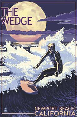 Newport Beach, California - Surfing the Wedge by Lantern Press