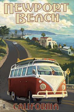 Newport Beach, California - VW Van Cruise by Lantern Press