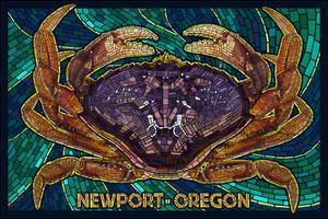 Newport, Oregon - Dungeness Crab Mosaic by Lantern Press