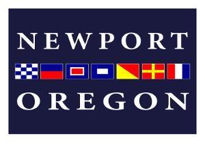 Newport, Oregon - Nautical Flags by Lantern Press