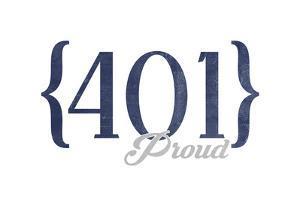 Newport, Rhode Island - 401 Area Code (Blue) by Lantern Press