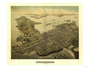 Newport, Rhode Island - Panoramic Map by Lantern Press