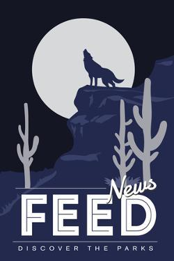 News Feed (Coyote Howling) - Discover the Parks by Lantern Press
