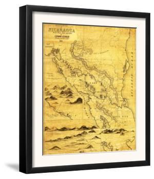 Nicaragua - Panoramic Map by Lantern Press