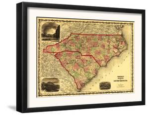 North and South Carolina - Panoramic Map by Lantern Press