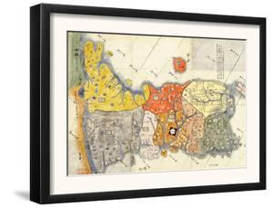 North and South Korea - Panoramic Map by Lantern Press