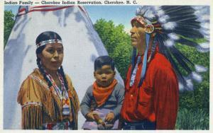 North Carolina - A Typical Indian Family on Qualla Reservation by Lantern Press