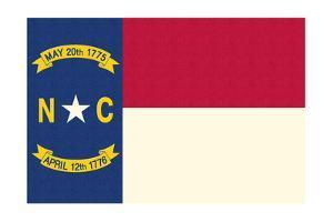 North Carolina State Flag by Lantern Press