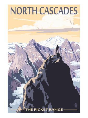 North Cascades, Washington - Mountain Peaks by Lantern Press