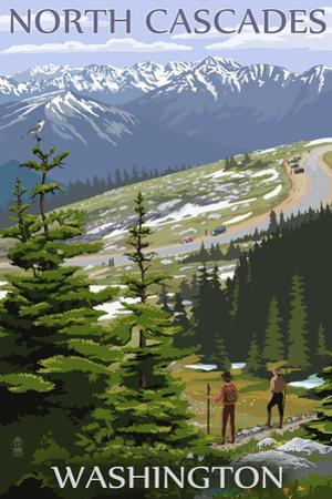 North Cascades, Washington - Trail Scene by Lantern Press