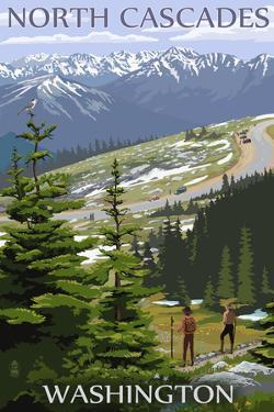 North Cascades, Washington - Trail Scene by Lantern Press