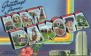 North Dakota - Large Letter Scenes by Lantern Press