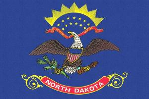 North Dakota State Flag by Lantern Press