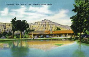 North Dakota, T. Roosevelt National Park View of Badlands Dude Ranch Swimmin' Hole by Lantern Press