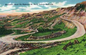 North Dakota, T. Roosevelt National Park View of Horseshoe Bend on US Hwy 85 by Lantern Press