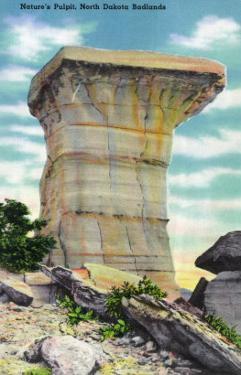 North Dakota, T. Roosevelt National Park View of Nature's Pulpit, Badlands by Lantern Press