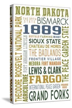 North Dakota - Typography by Lantern Press