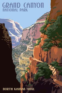 North Kaibab Trail - Grand Canyon National Park by Lantern Press