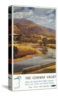 North Wales, England - Conway Valley Scene British Railways Poster by Lantern Press