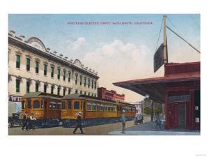 Northern Electric Rail Depot - Sacramento, CA by Lantern Press