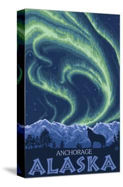 Northern Lights, Anchorage, Alaska by Lantern Press