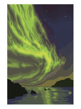 Northern Lights and Orcas by Lantern Press