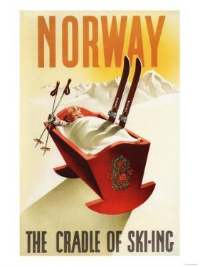 Norway - The Cradle of Skiing by Lantern Press