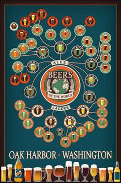 Oak Harbor, Washington - Beers of the World Infographic by Lantern Press