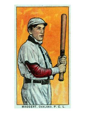 Oakland, CA, Oakland Pacific Coast League, Maggert, Baseball Card by Lantern Press