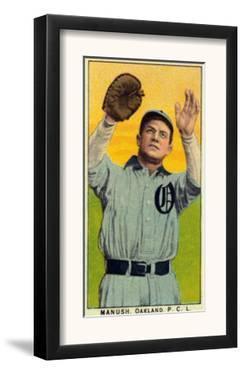 Oakland, CA, Oakland Pacific Coast League, Manush, Baseball Card by Lantern Press