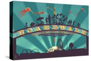 Ocean City, Maryland - Boardwalk Sign by Lantern Press