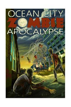 Ocean City, Maryland - Zombie Apocalypse by Lantern Press