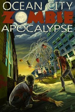 Ocean City, New Jersey - Zombie Apocalypse by Lantern Press