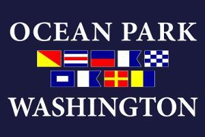 Ocean Park, Washington - Nautical Flags by Lantern Press
