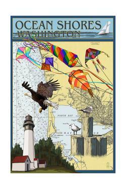 Ocean Shores, Washington - Nautical Chart by Lantern Press