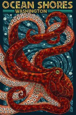Ocean Shores, Washington - Octopus Mosaic by Lantern Press