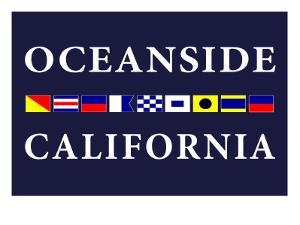 Oceanside, California - Nautical Flags by Lantern Press
