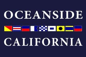 Oceanside, California - Nautical Flags by Lantern Press