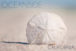 Oceanside, California - Sand Dollar on Beach by Lantern Press