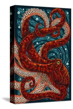 Octopus - Paper Mosaic by Lantern Press
