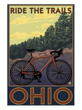 Ohio - Bicycle Ride the Trails by Lantern Press