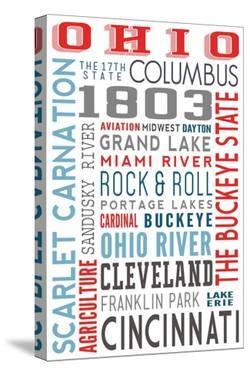 Ohio - Typography by Lantern Press