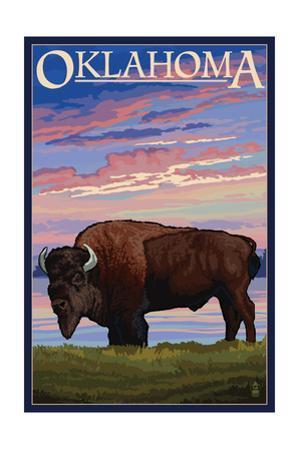 Oklahoma - Buffalo and Sunset