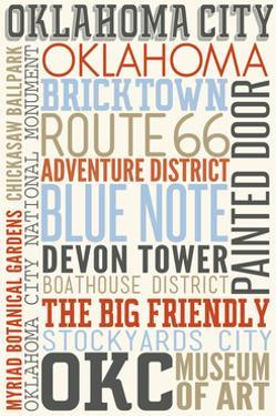 Oklahoma City, Oklahoma - Typography by Lantern Press