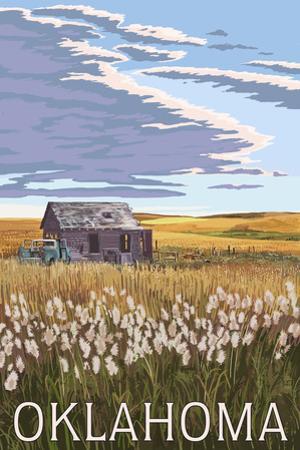 Oklahoma - Wheat Field and Shack