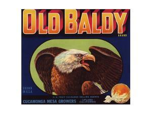 Old Baldy Brand - Upland, California - Citrus Crate Label by Lantern Press