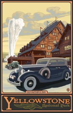 Old Faithful Inn, Yellowstone National Park, Wyoming by Lantern Press