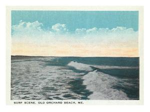 Old Orchard Beach, Maine - View of Surf by Lantern Press