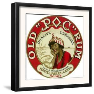 Old Poc Rum Qualite Superieure Brand Rum Label by Lantern Press
